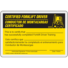 forklift license template download free forklift certification card template free forklift