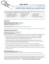 Certified Medical Assistant Resume New Sample Of A Medical Assistant Resume Sample Resumes