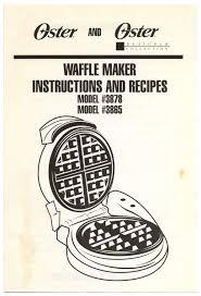 Light N Crispy Waffles Oster And Oster Designer Collection Waffle Maker
