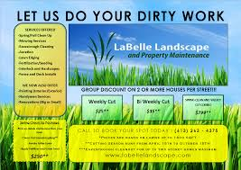 Free Lawn Care Flyer Templates Gopherhaul Landscaping Business Plan