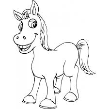 Disegno Di Piccolo Cavallo Da Colorare Per Bambini