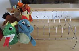 Stuffed Animal Display Stand Metal shoerack puppet display stand Daycare Schmaycare 46