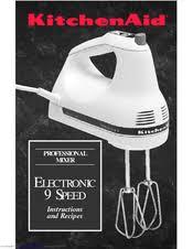kitchenaid 9 speed hand mixer. kitchenaid khm9pwh - 9 speed professional hand mixer instructions and recipes manual kitchenaid