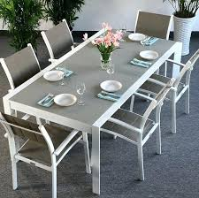 aluminium garden table modern large 6 metal glass white champagne extending garden furniture dining table set
