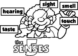 The 5 Senses Coloring Page Wecoloringpagecom