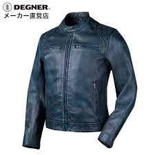 leatherette jacket leather jacket motorcycle summer spring storm men goat riders jacket goat leather goat leather jacket dark blue navy degner デグナー