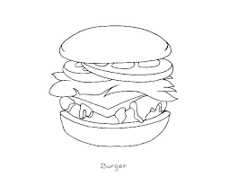 Junk Food Colouring Pages Healthy And Coloring Pictures Steak Page