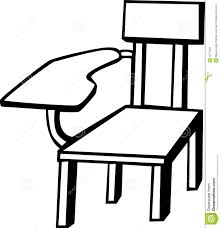 School Chair Drawing Chairs Table Clipart Panda Intended Decorating