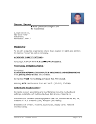 Normal Resume Format It Resume Cover Letter Sample