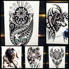 6062 руб индийские черные тотемные временные татуировки наклейки для мужской