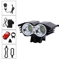 Xml U2 Bike Light Front Bike Lamps 6000 Lumens 2x Xm L U2 Led Light Mtb Bicycle Headlight With Battery Set Safety Rear Taillight In Bicycle Light From Sports