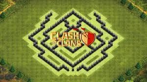 of clans layout de guerra cv7 sem: clash of clans layout de farm para centro de vila  com ou sem rei barbaro