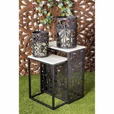 set of 2 modern 22 and 27 inch rectangular black end tables