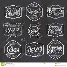 Chalkboard Sign Designs Chalkboard Calligraphic Vector Sign And Label Design Set