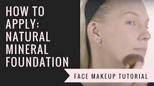 how to apply natural mineral foundation