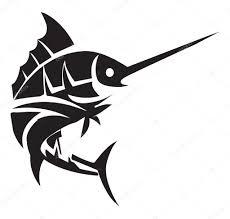 тату рыбы татуировка рыбы марлини векторное изображение