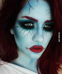 corpse bride costume makeup
