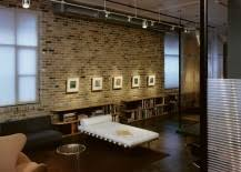 brick wall lighting. the exposed brick wall offers a lovely and vibrant backdrop that lets you showcase your cherished art collection or favorite set of family photographs lighting