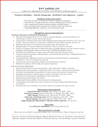 Ideas Of Resume Resume Objective Examples Warehouse Supervisor