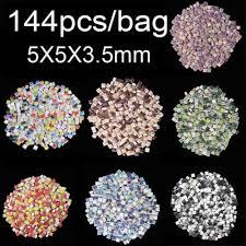 144pcs 25g 5x5x3 5mm mix color square