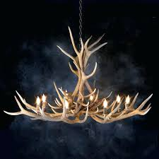 elk antler chandelier 8 light lamp
