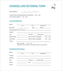 Referral Forms Templates Referral Form Template 9 Free Pdf Documents Download Free