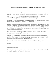 Cover Letter Email A Cover Letter Email Cover Letter Sample With
