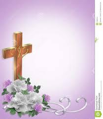 Religious Border Designs Wedding Invitation Christian Cross Stock Illustration