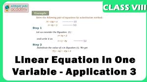 linear equation in one variable 3 equation maths class 8 viii isce cbse you