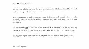 Congratulation Letter Congratulations Letter From Mr Shinji Hattori President CEO And 8