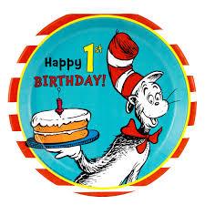 Dr Seuss Party Decorations Dr Seuss 1st Birthday Dinner Plates Birthdayexpresscom