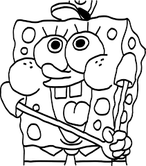 Small Picture Spongebob Printable Coloring Pages akmame