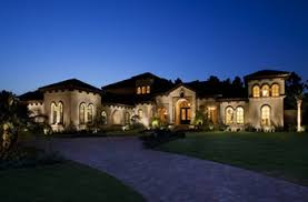 Mediterranean outdoor lighting Outdoor Covered Patio Here Maxim Lighting Total Home Lighting Design The House Designers