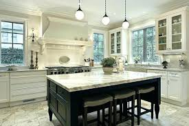 stone off white kitchen cabinets with tile floor