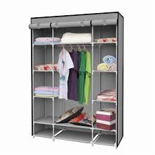 us stock portable extra wide modular storage clothes closet organizer w 6 enclosed cubes cloth wardrobe furniture