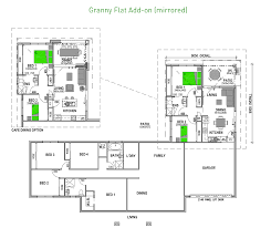 2 bedroom granny flat add on mirrored