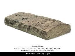 chiseled stone wall cap stone veneer accessory aspen