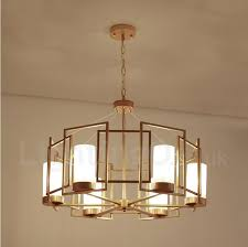 modern contemporary 6 light brass pendant light with glass shade for living room dinning