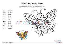 Tricky words are the words that cannot be decoded potentially, so children are taught to learn them by sight. Phase Three Tricky Words Colour The Butterfly