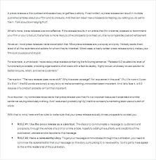Product Announcement Press Release Template