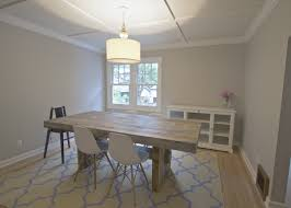 Tasteful Lacquered Oak Dining Table With Metal Legs Ideas Attractive