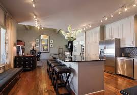 attractive kitchen bench lighting. Technique Other Metro Traditional Kitchen Decoration Ideas With Bench Counter Stools Granite Countertop Island Track Lighting Viking Appliances Attractive