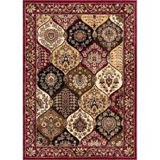 barclay wentworth panel red 9 ft x 13 ft traditional area rug