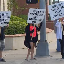 Protesters Gather at Webb County Courthouse