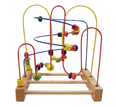 Wooden Bead Game bead maze toysbead gamebead roller coaster 2