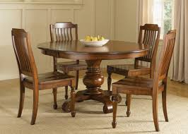dazzling round kitchen tables for for your dining room decor untique brown wood round