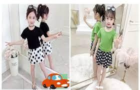 Giá Rẻ] Sét đồ bộ quần áo trẻ em mẫu Quần Chấm Bi dành cho bé gái 1-5 tuổi.  Thiết kế đẹp hợp thời trang trong 2021