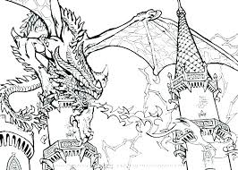 Dragon For Coloring Detailed Dragon Coloring Pages Printable