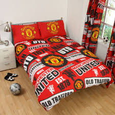 Manchester United Bedroom Manchester United Fc Single And Double Duvet Cover Sets Bedroom