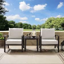 cream 3 piece outdoor patio furniture